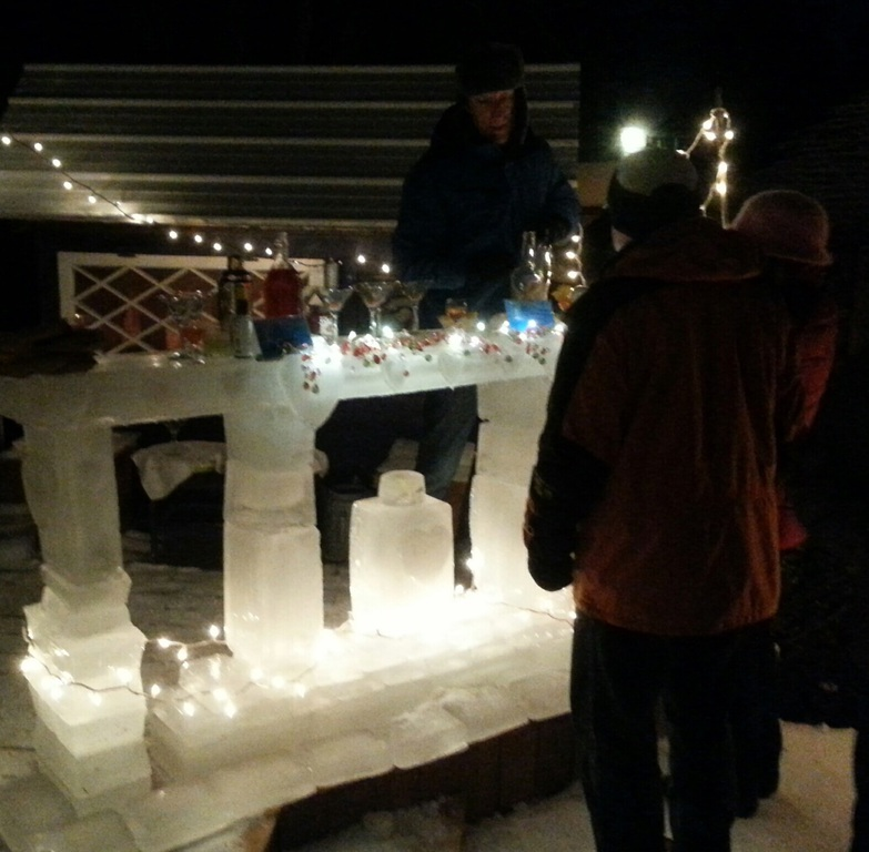 Ice bar we built for Valentines day party