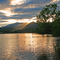 Sunset at nearby Lake Junaluska.  A great place for an easy health walk.