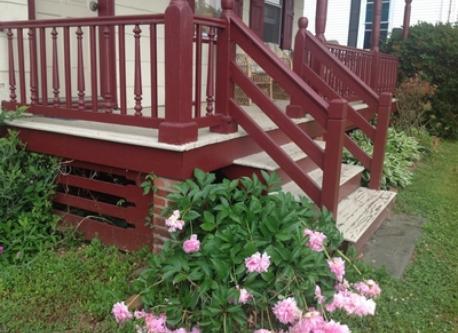 Detail, front porch