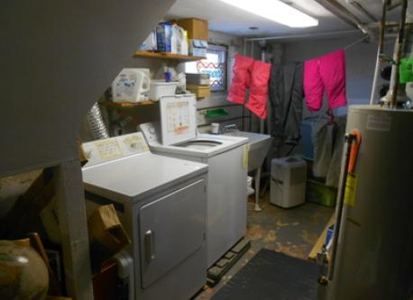 Washer and Dryer in basement.