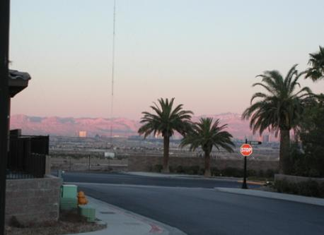 View of Vegas Valley and Strip from our House
