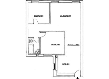 Plan. Plano del apartamento.