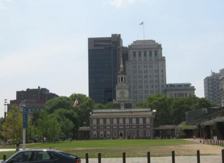 Philadelphia, where Declaration of Independence was signed