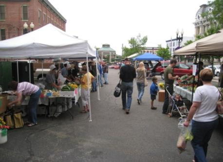 Saturday farmers market downtown