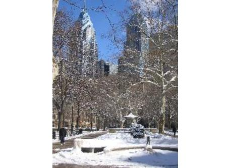 Nearby Rittenhouse Square in wintertime