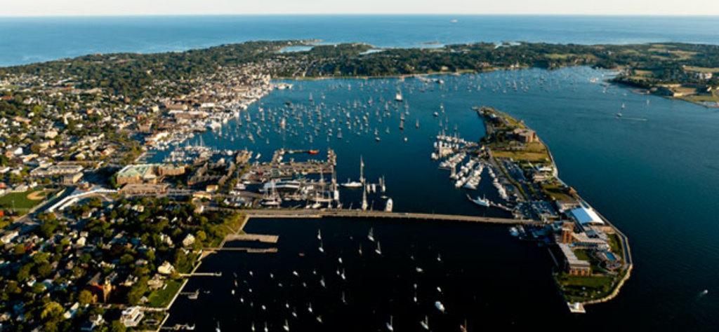 Newport Harbor, looking south