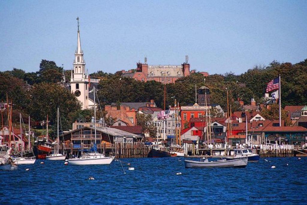Newport Harbor, looking east