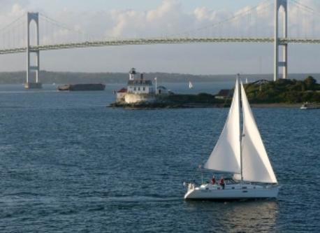 Narragansett Bay and Newport Pell Bridge