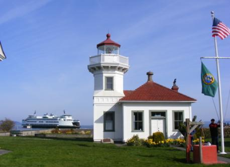 Whidbey Island ferry. Public park at lighthouse. Summer public market, family friendly.
