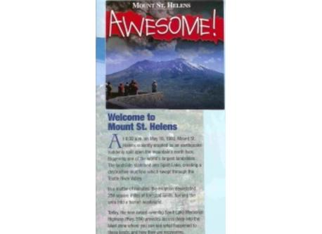Mount St. Helens is just one of Washington's mountains with a large visitor center. Awesome!