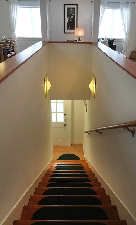 Must climb stairs to access the loft apartment