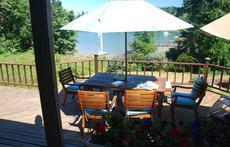 front deck in summer