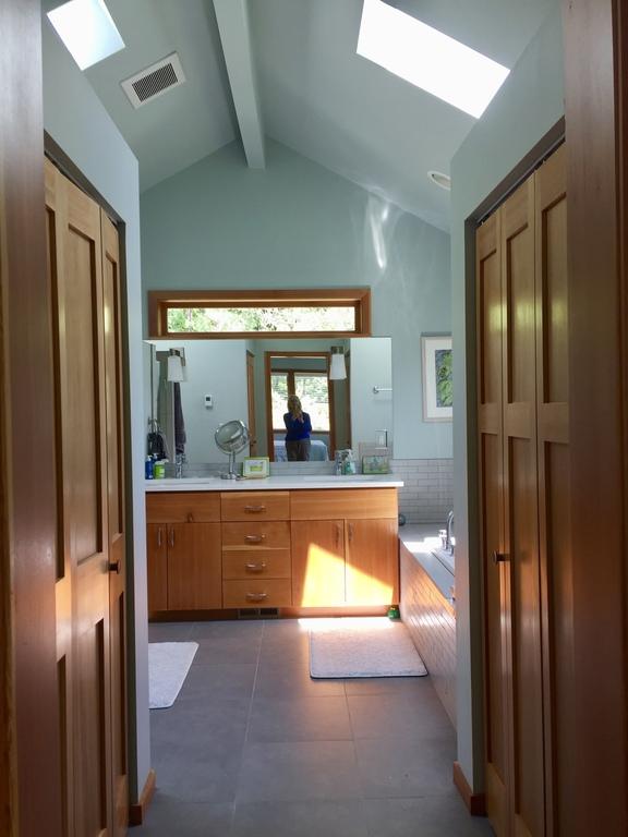 to master bath, closet doors on both sides
