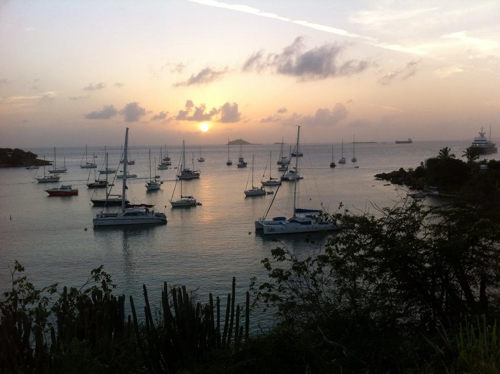 Sunset on Water Island, Honeymoon Beach