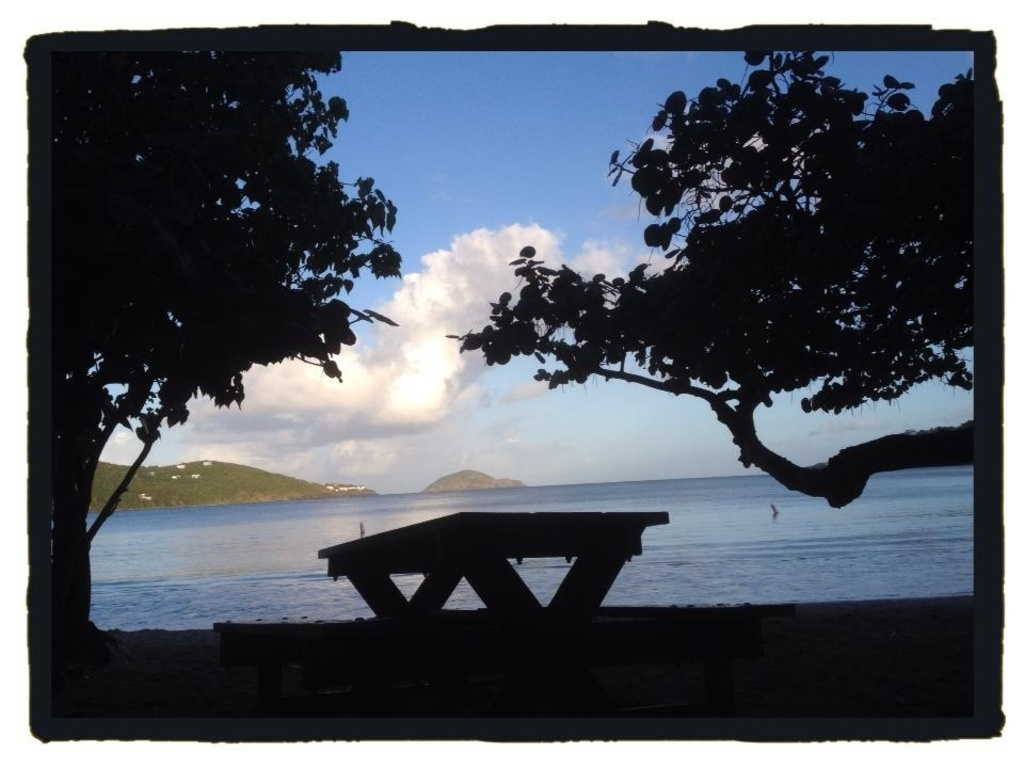 Magens Bay can be seen from the screened in living room