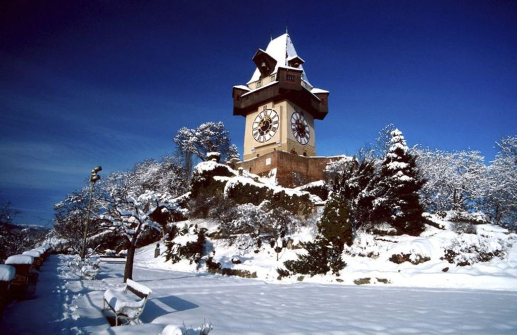 Clock-tower in winter