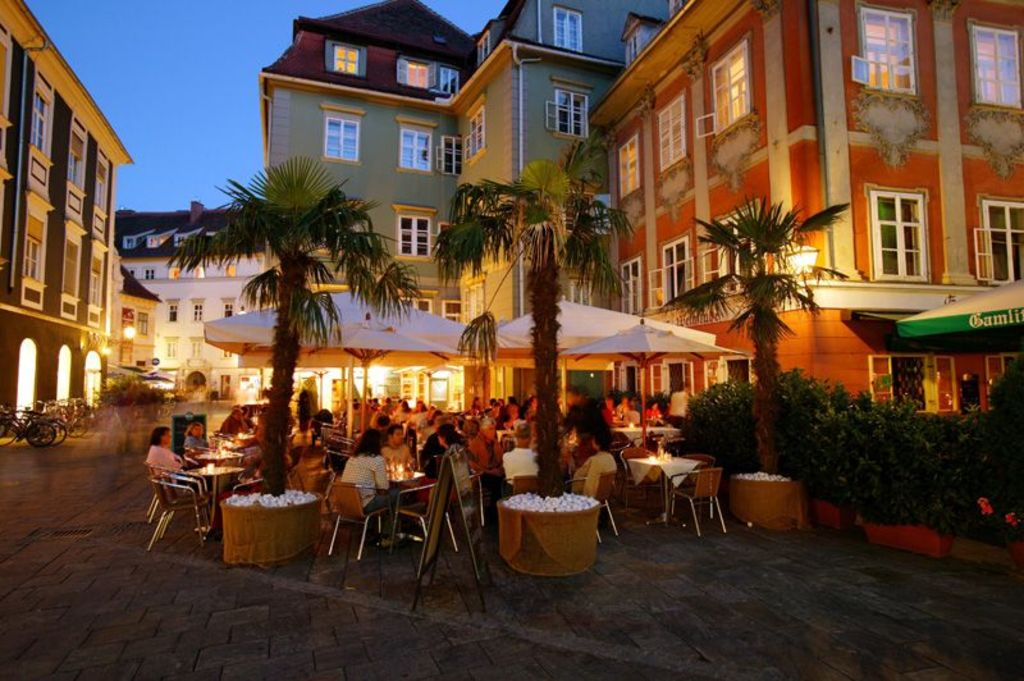 nightlife in the old town of Graz