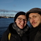 Tamara and Florian on winter vacation in Stockholm