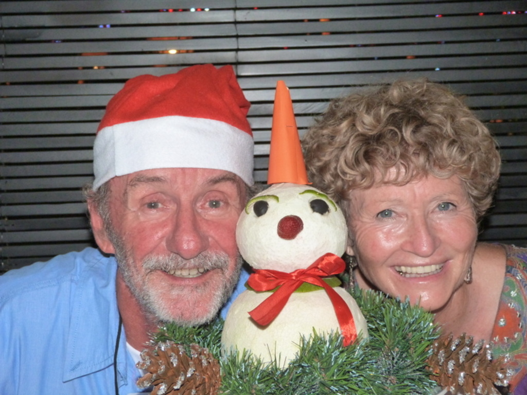 John and June celebrating Christmas in Vietnam