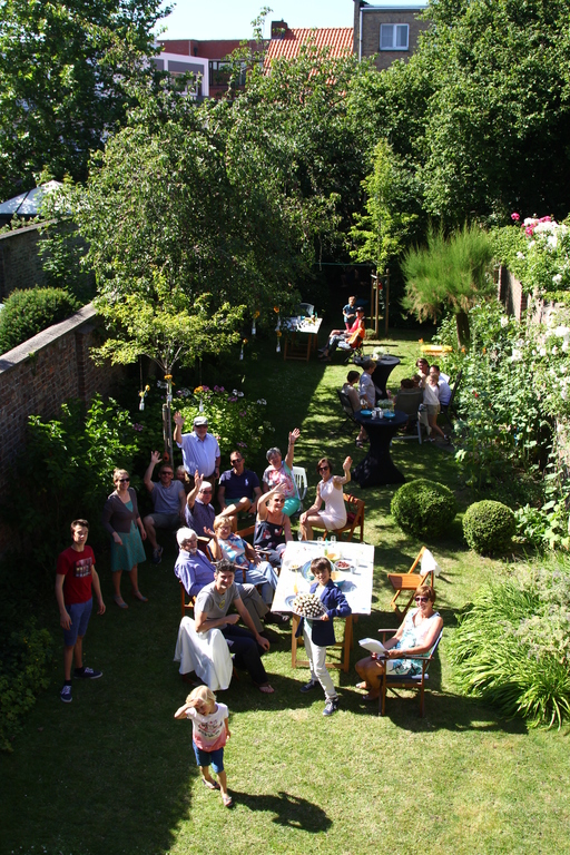 Family party in the garden