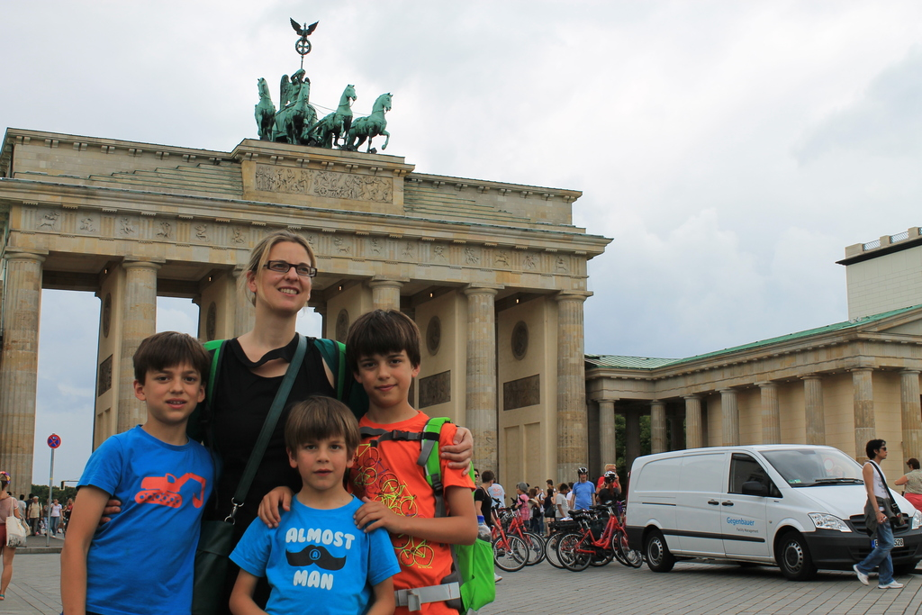 Veerle and children in Berlin, summer 2015