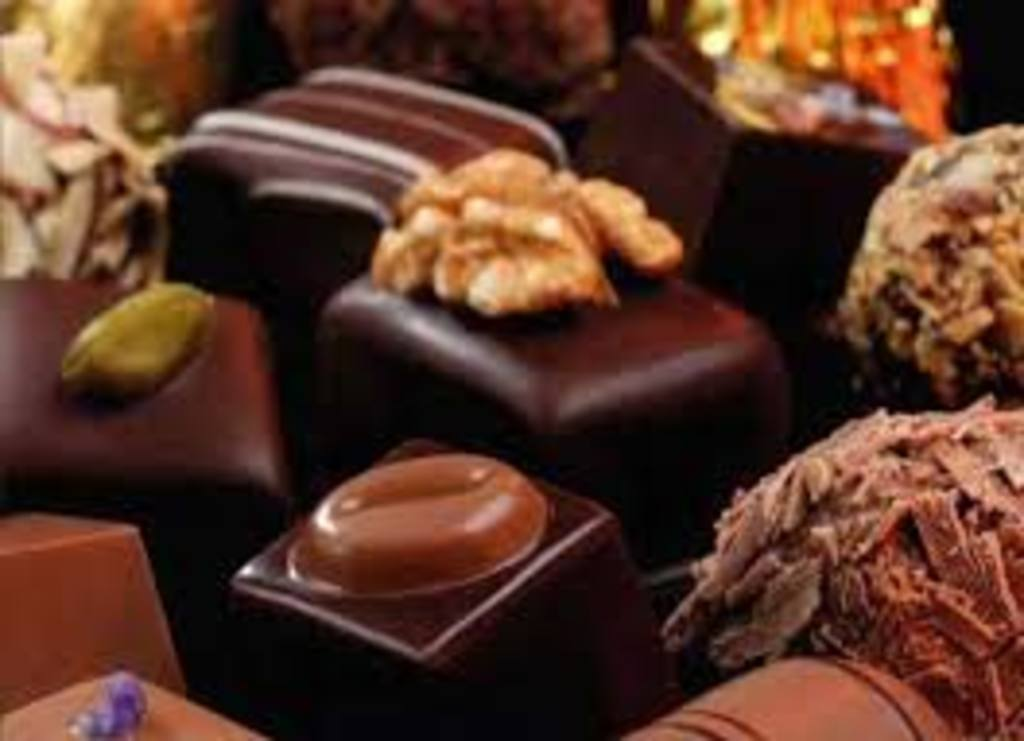 You can find chocolates everywhere in the city