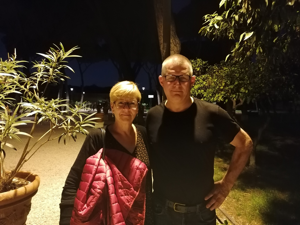 Philip and Marie Jeanne in Rome, 2019