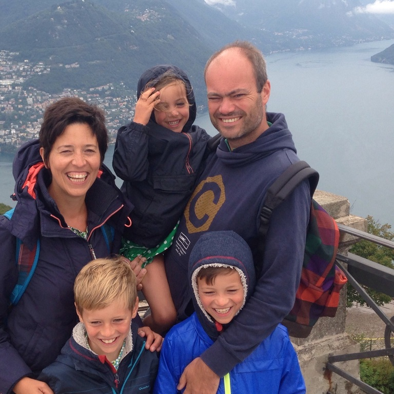 The five of us in Lugano (Switzerland).