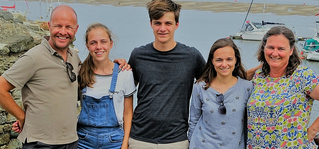 Family picture during summer of 2018 in Wales