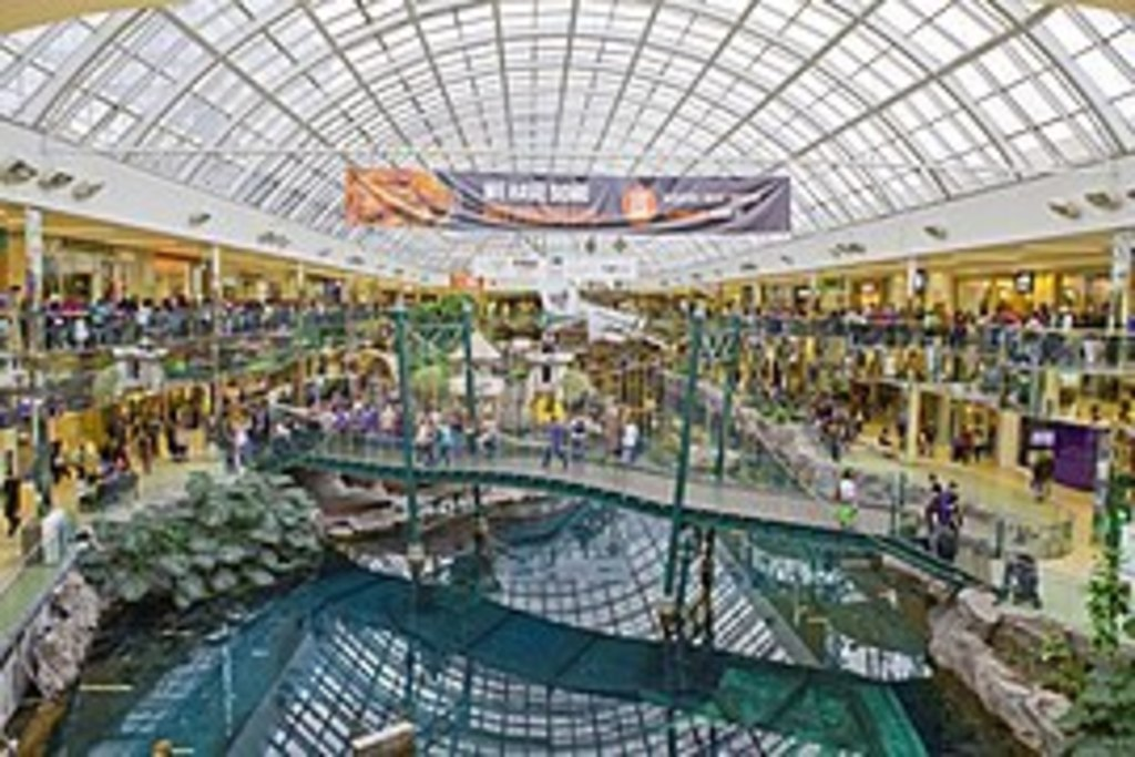 West Edmonton Mall - still the largest shopping and entertainment complex in North America.
