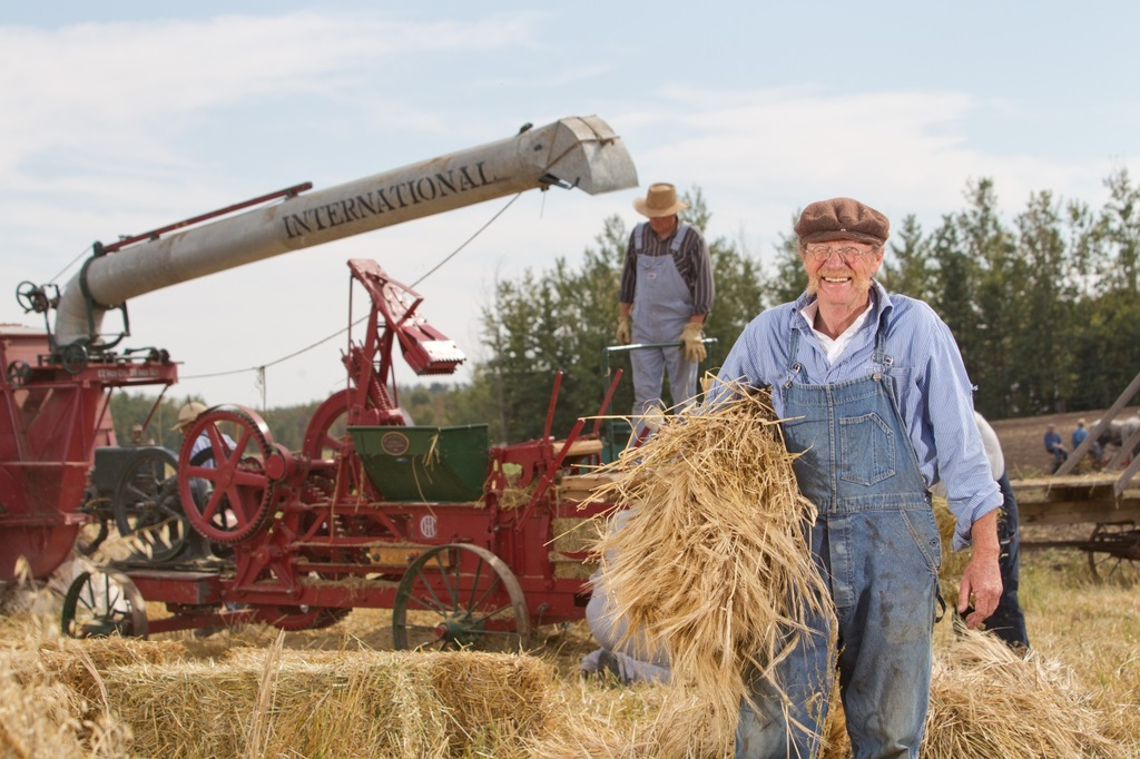 Try your hand at pioneer farming at the Ukrainian Heritage Village.
