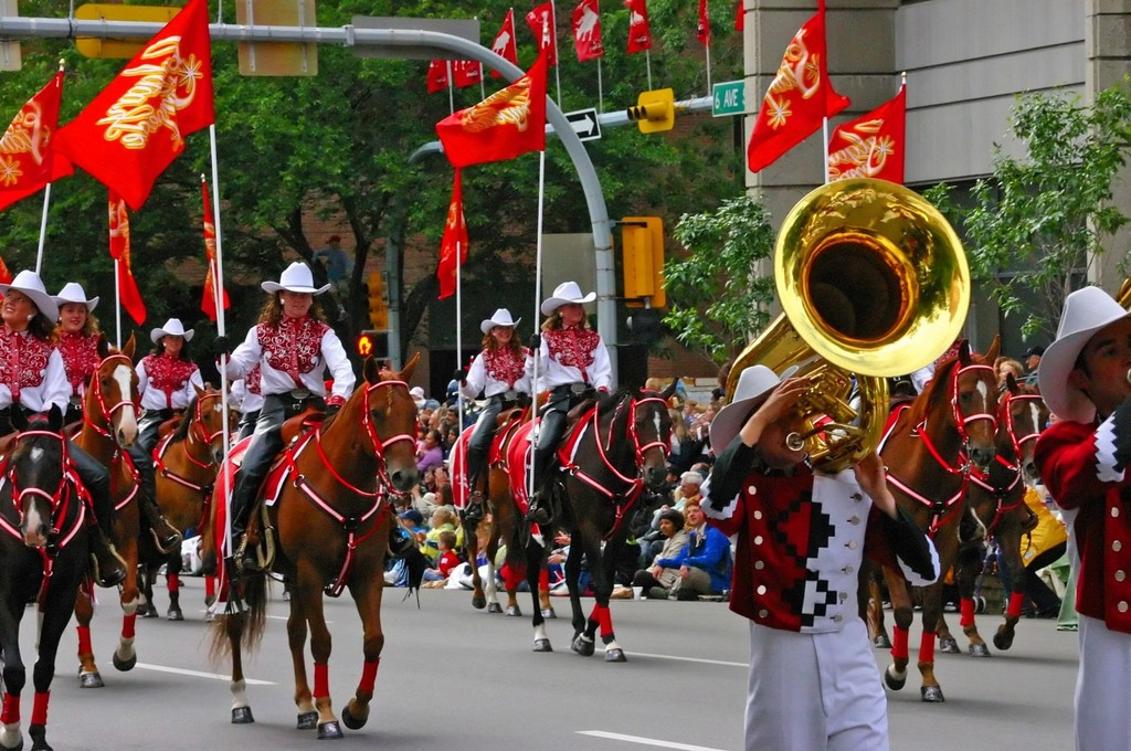 World famous Calgary Stampede parade.