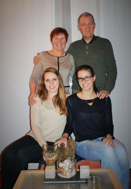 our family with cat Pipa
