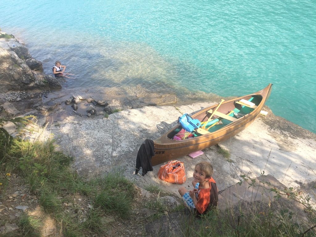 Canoe is for using available - here a few k avay on the lake of brienz