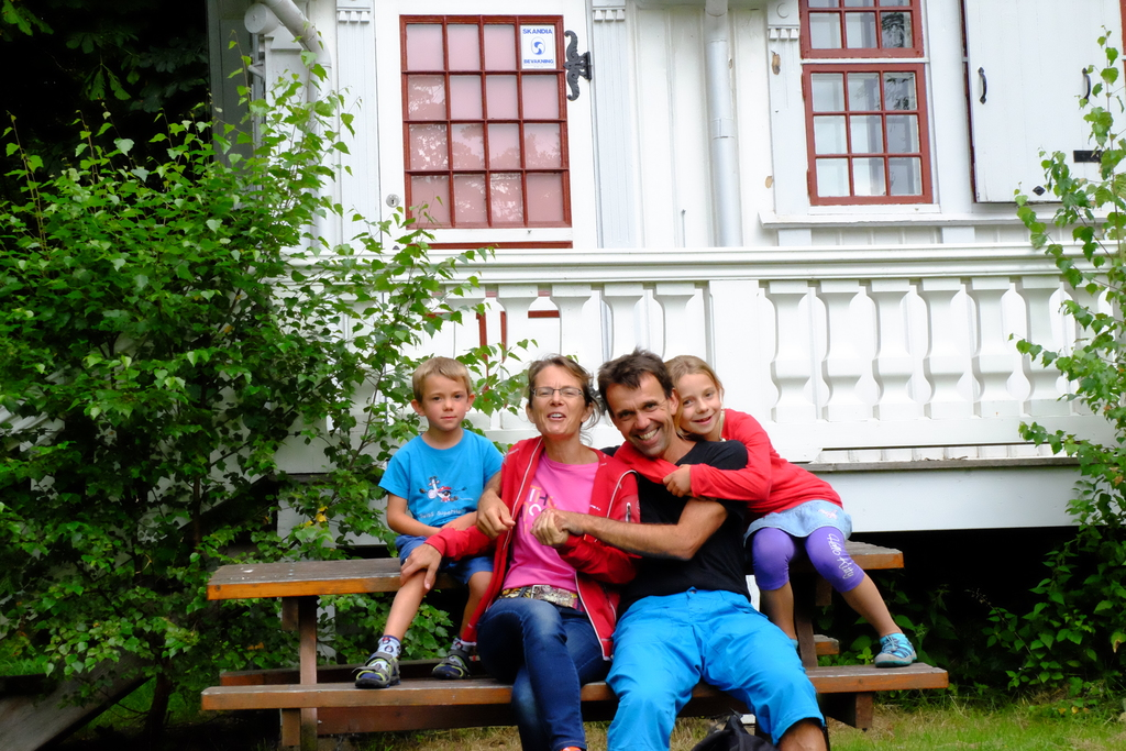 Our family in sweden at the first swap