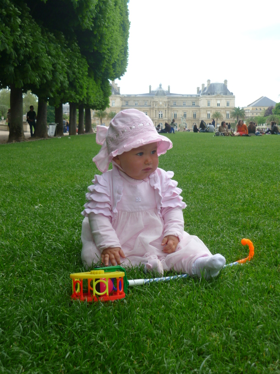 Yvette is celebrating her first birthday in Paris :)