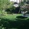 big garden with trampolin