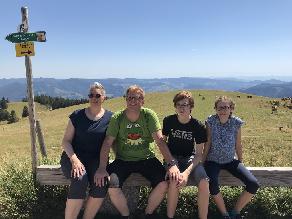 On top of the Belchen, during our 2020 exchange in Freiburg in Germany