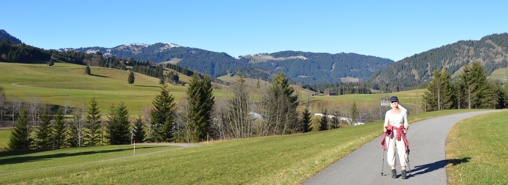 walking in Tannheimer Tal, Austria