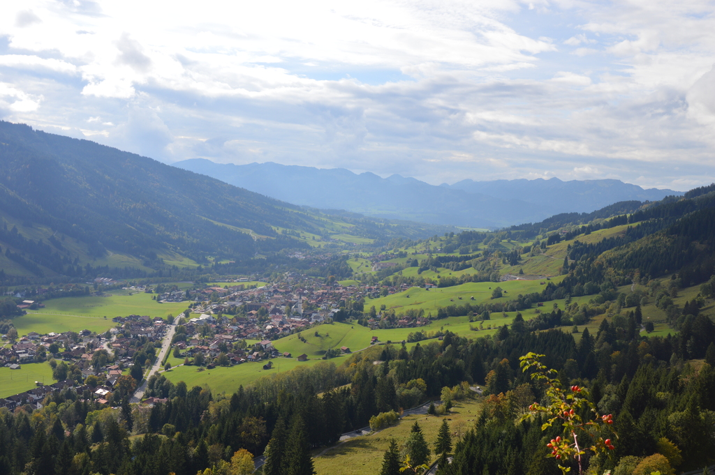 View of the valley to Bad Hindelang