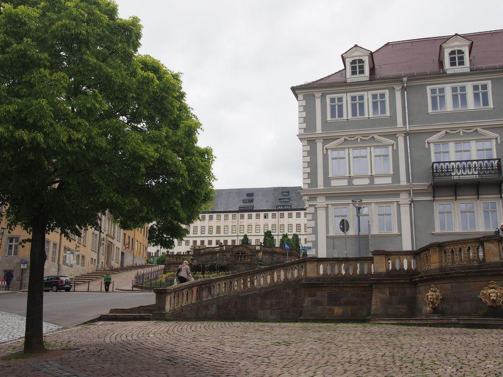 oberer Hauptmarkt Gothas mit Schloß