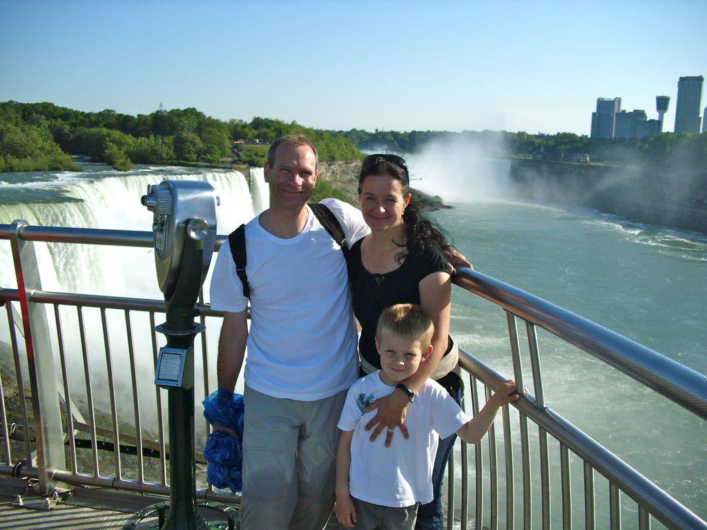 ... bei den Niagara Wasserfällen