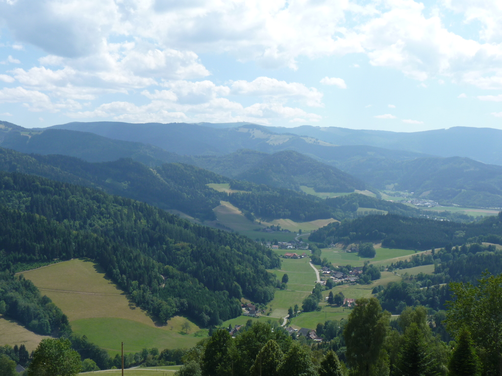 View of the Black Forest from Maria Lindenberg