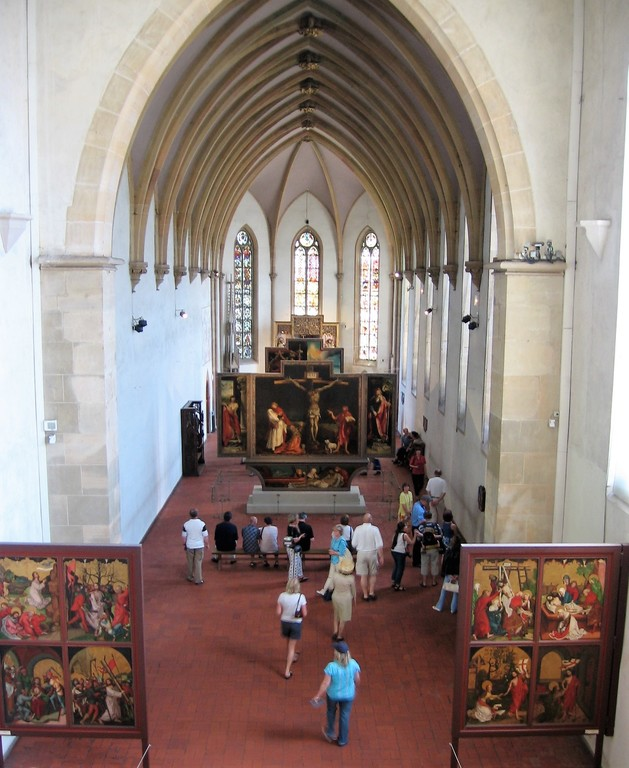 Isenheim Altarpiece in Colmar, painted by Matthias Grünewald in 1512-1516