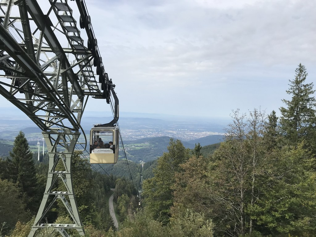 View of Freiburg from Schauinsland (1284 m), our local mountain