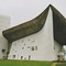 Le Corbusier's famous chapel Notre Dame du Haut in Ronchamp, France, at the foot of the Vosges