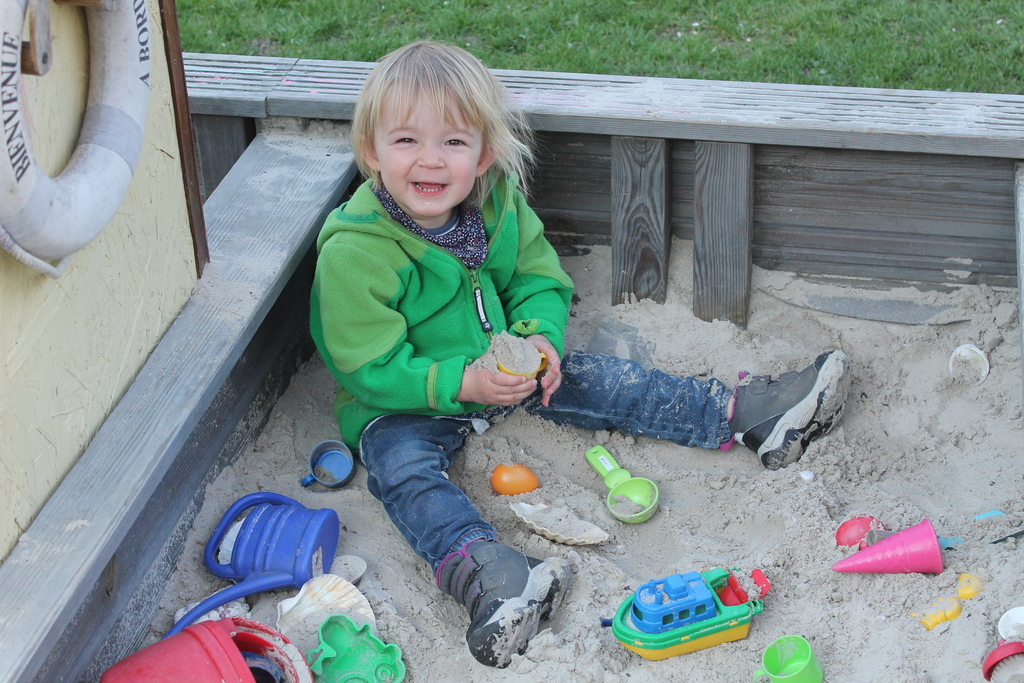 Janne in our sand box
