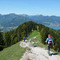 Hiking on the mountains round the lake Tegernsee