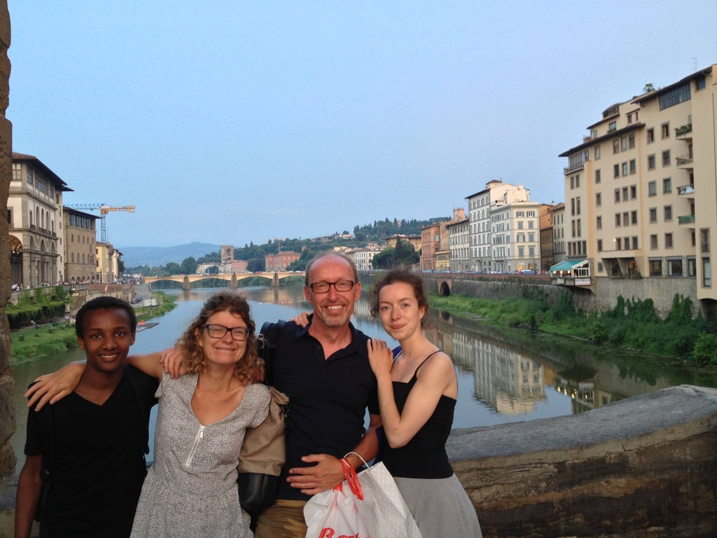 Family shot at Ponte Vecchio