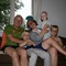 It is pretty hard to take a family photo with three boys :)